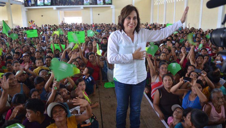 Sandra Torres, presidenciable de la UNE.