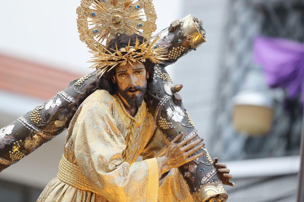 Jesús de la Merced, de la Ciudad de Guatemala, es el Patrón Jurado y protector contra catástrofes y calamidades. Foto Prensa Libre: Óscar Rivas