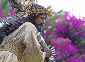 Las leyendas cuentan que una monja tuvo una visión y en ella Jesús le dijo que para conocer su rostro debía venir a Guatemala y apreciar a Jesús de la Merced. Foto Prensa Libre: Óscar Rivas