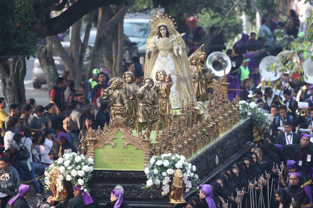 El cortejo ingresará al templo a las 14:45 según indican autoriades del templo mercedario. Foto Prensa Libre: Óscar Rivas