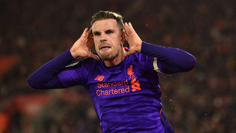 El mediocampista inglés Jordan Henderson es uno de los pilares del Liverpool. (Foto Prensa Libre: AFP)