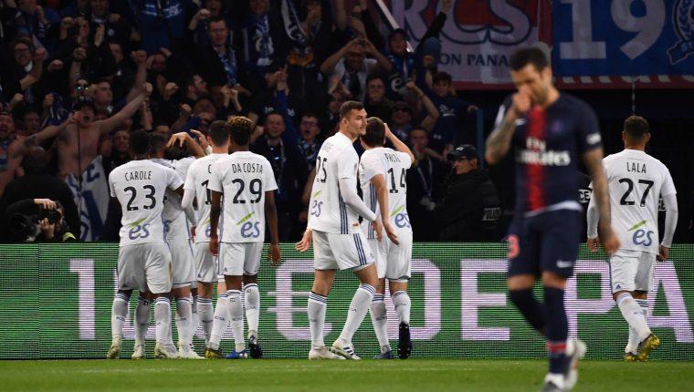 El PSG no pudo festejar la victoria ni el título. (Foto Prensa Libre: AFP)