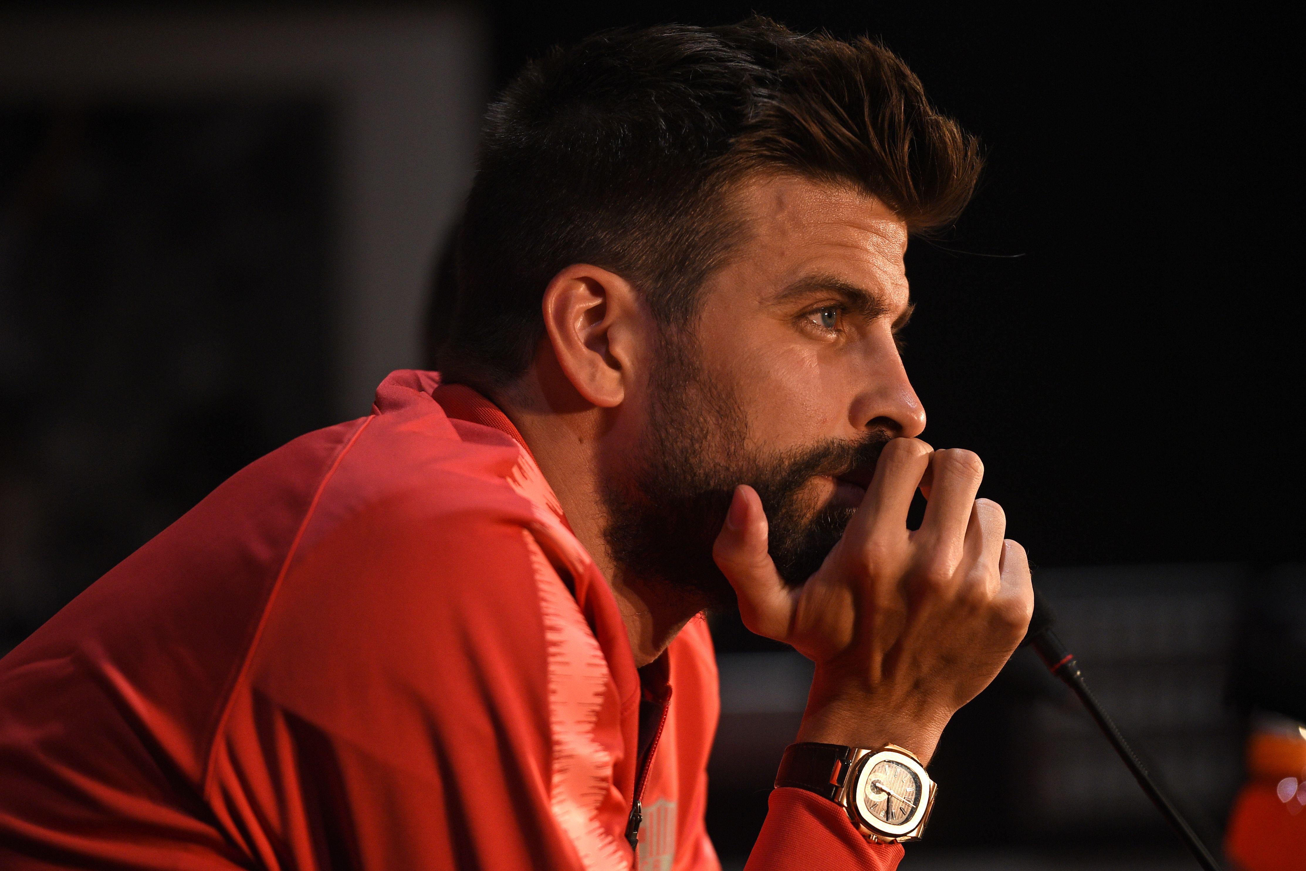 El defensa español Gerard Piqué dice que espera volver a ganar la Champions. (Foto Prensa Libre: AFP)