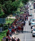 A raíz de las caravanas que salieron de Honduras el año pasado, el presidente estadounidense vio una oportunidad para aferrarse al tema migratorio con vistas a su reelección. (Foto Prensa Libre: Hemeroteca PL)