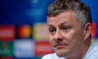 Manchester United's Norwegian manager Ole Gunnar Solskjaer  gives a press conference at the Camp Nou stadium in Barcelona on April 15, 2019 on the eve of the Champions League second leg quarter-final football match between FC Barcelona and Manchester United. (Photo by Josep LAGO / AFP)