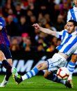 Jordi Alba hizo efectivo el triunfo del Barcelona contra la Real Sociedad. (Foto Prensa Libre: FC Barcelona)