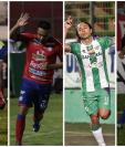 Janderson Pereira, Carlos Kamiani Félix, Agustín Herrera y Edi Danilo Guerra, pelean por ser el máximo artillero del Clausura 2019. (Foto Prensa Libre: Hemeroteca PL)