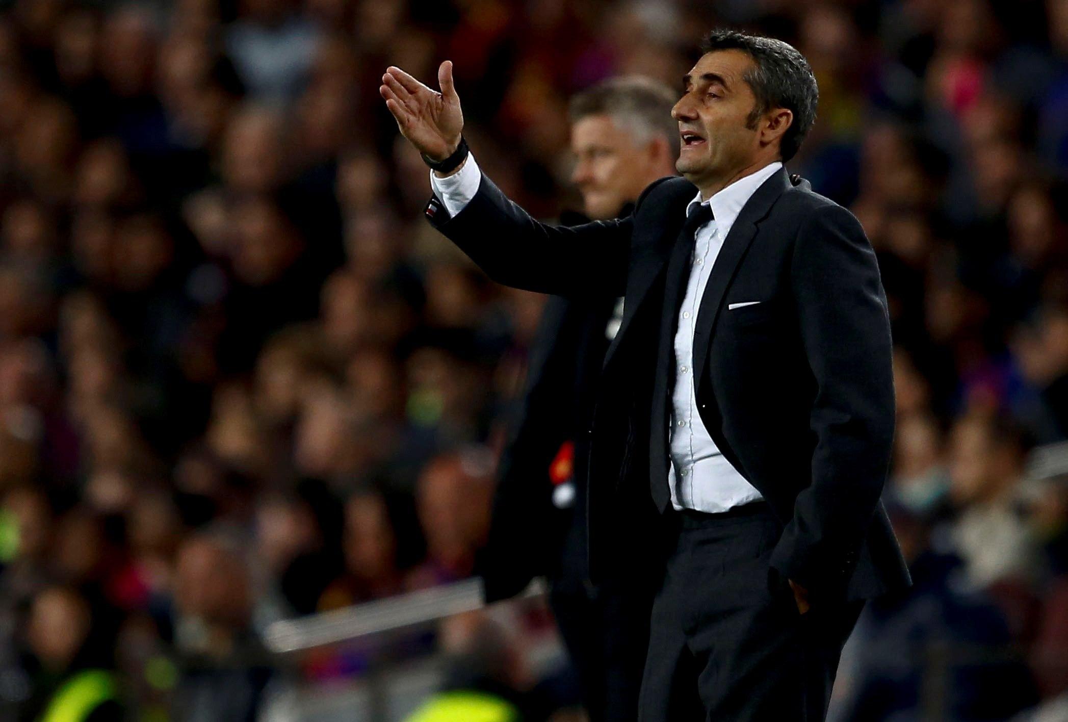 Ernesto Valverde confía en que el Barcelona sentencie La Liga. (Foto Prensa Libre: EFE).