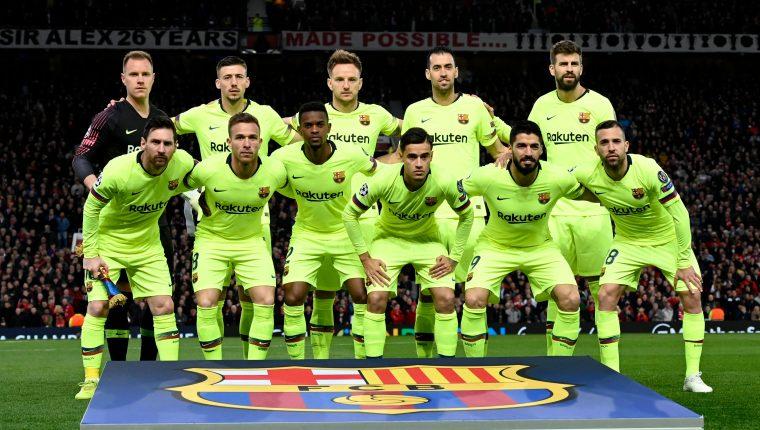 El Barcelona encarriló su pase a semifinales con un valioso triunfo contra el Mánchester United. (Foto Prensa Libre: AFP)