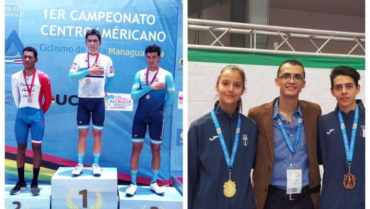 Los atletas guatemaltecos festejaron este sábado. (Foto Prensa Libre: Cortesía)