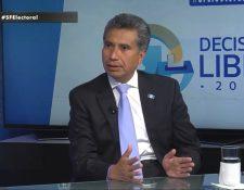 Fredy Cabrera candidato presidencial del partido Todos (Foto Prensa Libre: Hemeroteca PL)