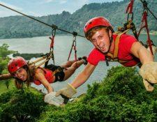 Para los amantes de lo extremo esta es una actividad que recompensa con la vista aérea. Foto Prensa Libre: cortesía Parque Calderas.
