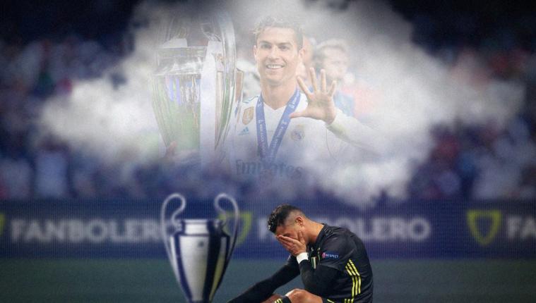 Cristiano Ronaldo no consiguió hacer la diferencia para que la Juventus clasificara a semifinales, este es uno de los memes que circulan en internet. (Foto Prensa Libre: Tomada de Fanbolero)