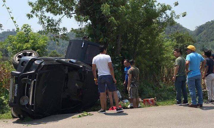 Jugadores de Cobán sufren accidente automovilístico. (Foto Prensa Libre: Redes)