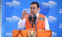 Jimmy Morales, presidente, volvió a cuestionar al TSE por sus actuaciones en el proceso electoral. (Foto Prensa Libre: Gobierno de Guatemala)