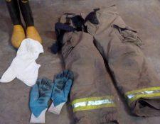 Este fue el equipo que los vecinos devolvieron a los bomberos y que se había extraviado el fin de semana. (Foto Prensa Libre: Cortesía Bomberos Voluntarios)