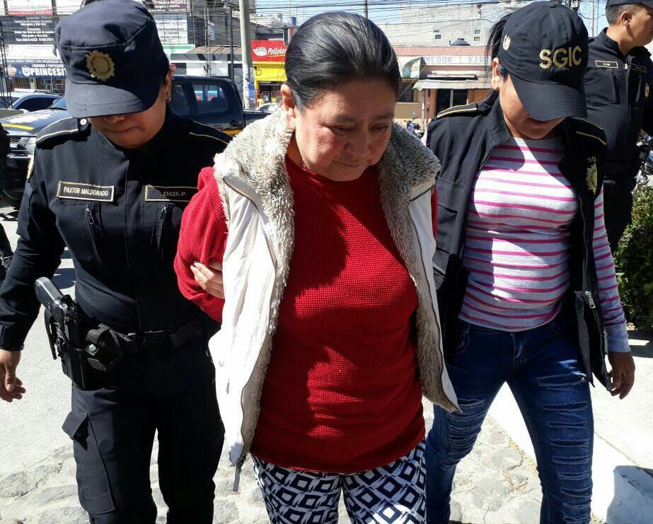 Elsy Clemencia Tin Tucux, de 60 años, enfrenta varios procesos por extorsión. (Foto Prensa Libre)