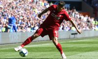 Liverpool's Brazilian midfielder Roberto Firmino controls the ball during the English Premier League football match between between Cardiff City and Liverpool at Cardiff City Stadium in Cardiff, south Wales on April 21, 2019. (Photo by GEOFF CADDICK / AFP) / RESTRICTED TO EDITORIAL USE. No use with unauthorized audio, video, data, fixture lists, club/league logos or 'live' services. Online in-match use limited to 120 images. An additional 40 images may be used in extra time. No video emulation. Social media in-match use limited to 120 images. An additional 40 images may be used in extra time. No use in betting publications, games or single club/league/player publications. /