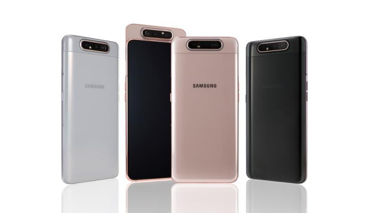 El Galaxy A80 tiene diferentes colores. (Foto Prensa Libre: Samsung).