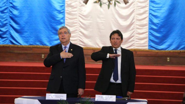 El vicepresidente Jafeth Cabrera se refirió este 30 de abril a Thelma Aldana. (Foto Prensa Libre: Vicepresidencia)