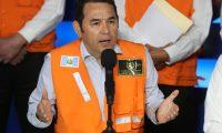 El presidente Jimmy Morales en conferencia de prensa se refirió al proceso electoral. (Foto Prensa Libre: Esbin García)