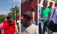 Aficionados no identificados de Jocotán intimidan e insultan durante el ingreso del plantel de Deportivo Carchá al estadio Municipal de Jocotán. (Foto Prensa Libre: Facebook Deportivo Carchá)