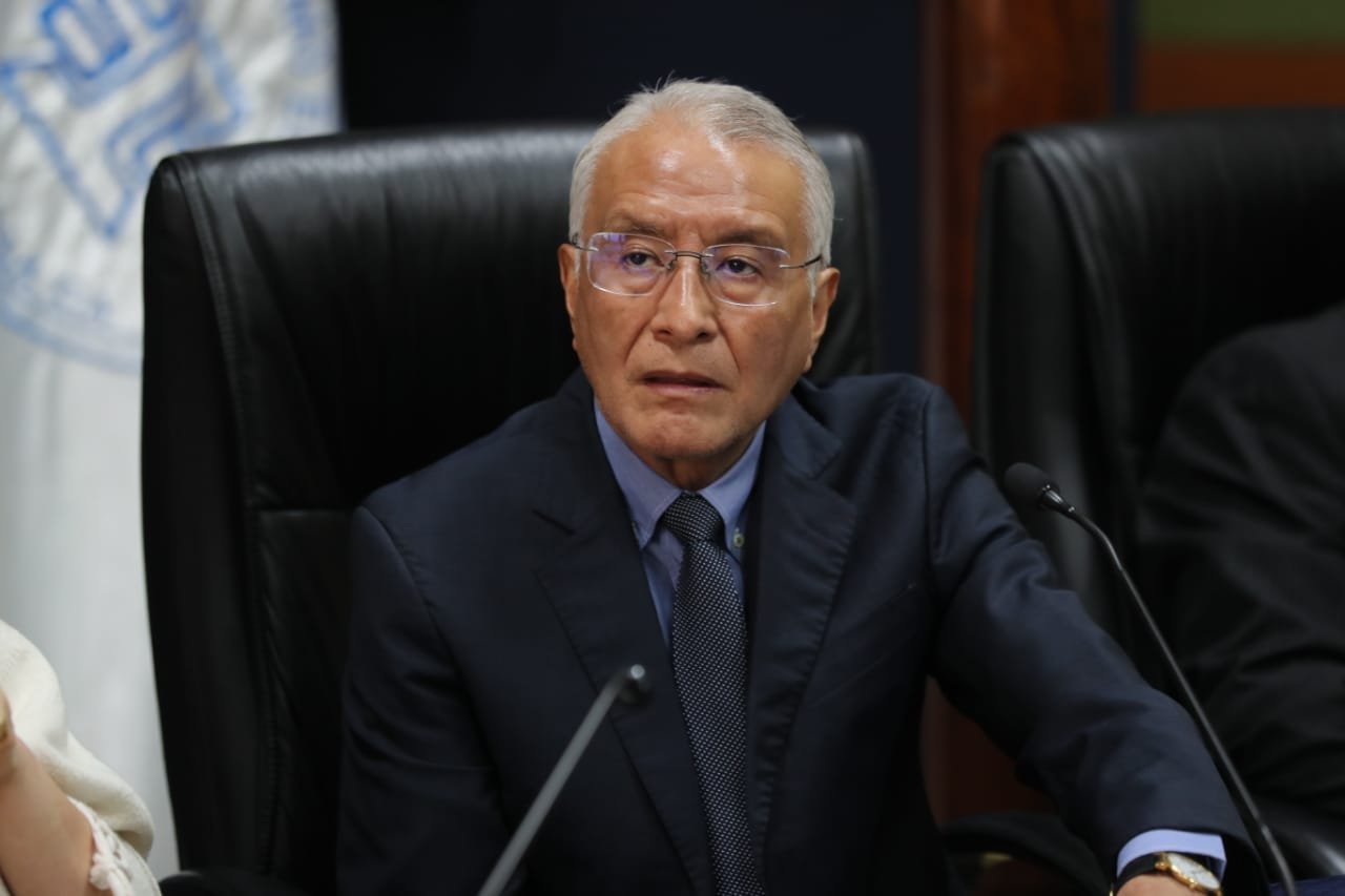 Julio Solórzano, presidente del TSE respondió a JImmy Morales por sus críticas.(Foto Prensa Libre: Érick Ávila)