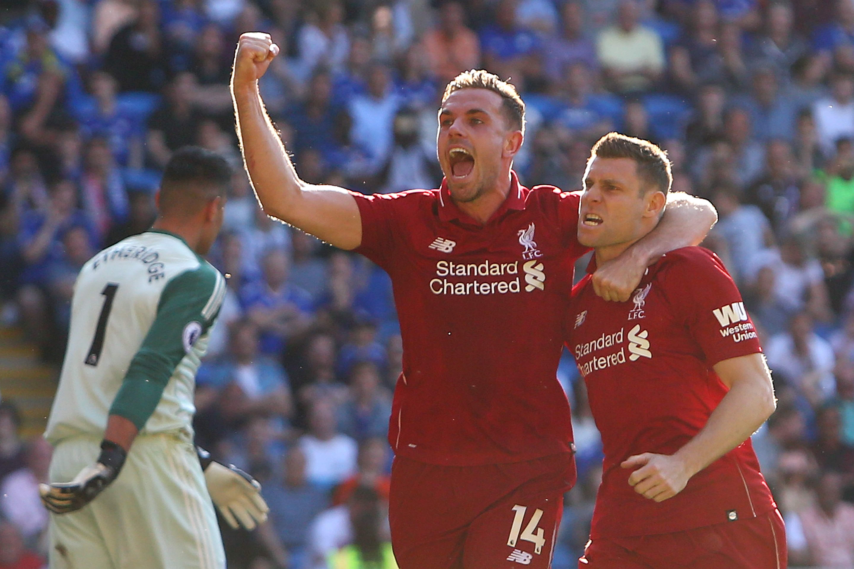 James Milner celebra el triunfo del Liverpool: (Foto Prensa Libre: AFP)