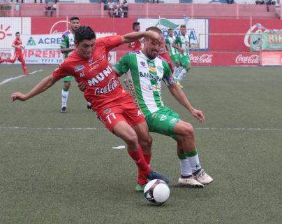 Antigua y Malacateco empatan 1-1 en la fecha 19 del Clausura 2019. (Foto Prensa Libre: Raúl Juárez)