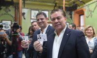 Mario Estrada y Javier Castillo, binomio presidencial de UCN, estaba inscrito desde el 15 de febrero. (Foto Prensa Libre: Hemeroteca PL)