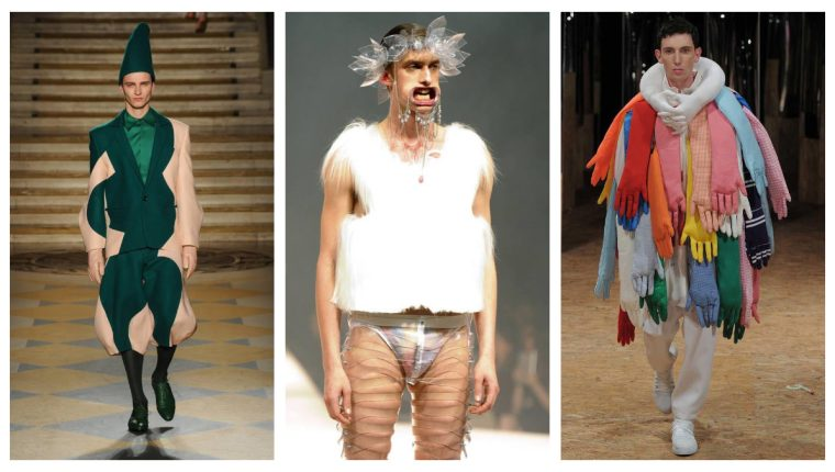 Algunos de los atuendos que se presentan en los desfiles de moda podrían considerarse descabellados. (Foto Prensa Libre: Servicios)