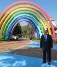 Ricardo Castillo Sinibaldi, presidente del Irtra, presenta parte de la oferta de Guatemala en parques de diversiones durante   el Encuentro Latinoamericano 2019 de IAAPA. Luego de la inauguración respondió acerca de la situación del país.(Foto, Prensa Libre: María René Barrientos).