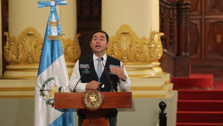 El presidente Jimmy Morales Cabrera. (Foto Prensa Libre: Hemeroteca PL)