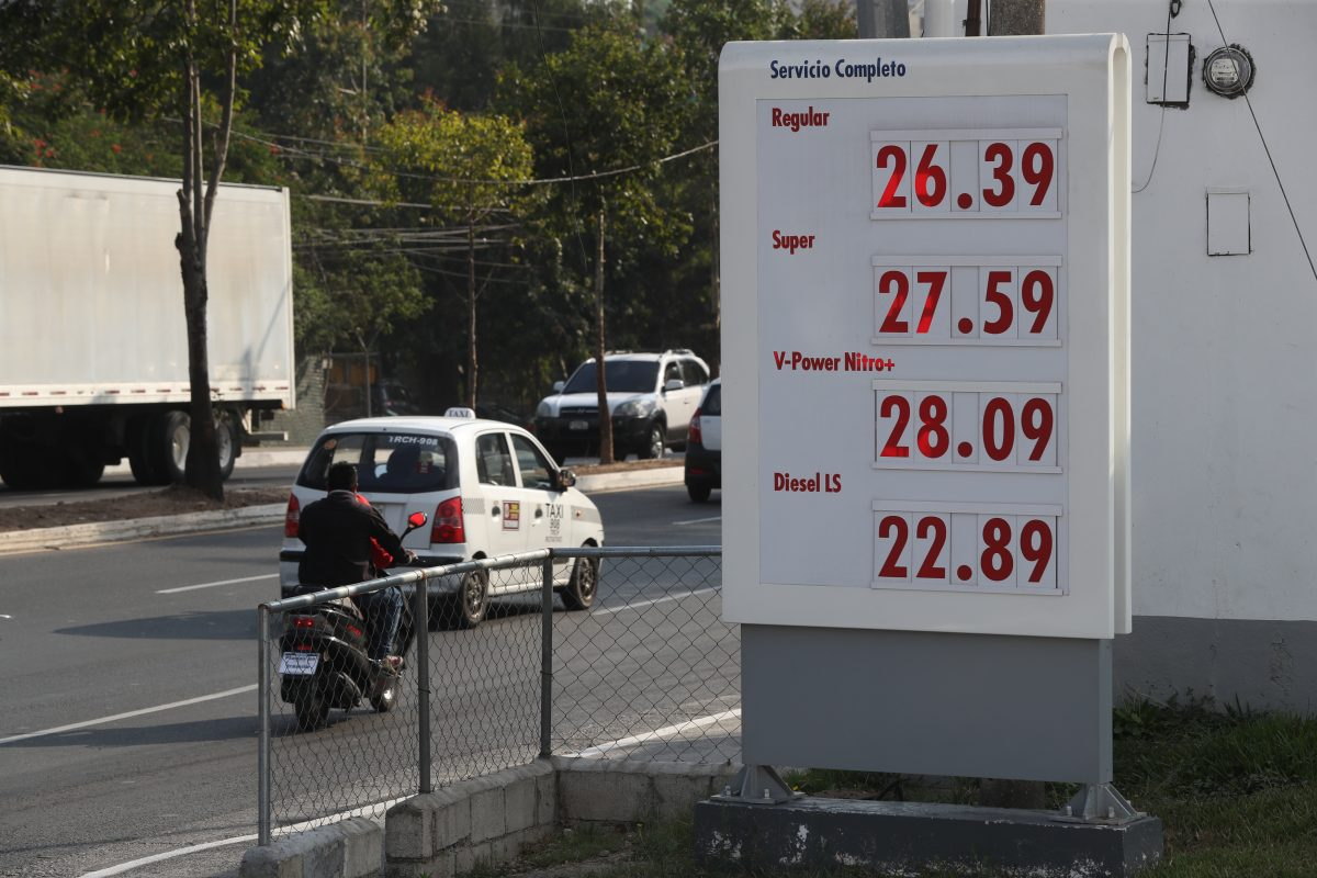 Galón de gasolina registra nuevo incremento de Q0.50