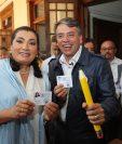 Edwin Escobar, presidenciable del partido Prosperidad Ciudadana, continúa con su campaña presidencial. (Foto Prensa Libre: Cortesía)