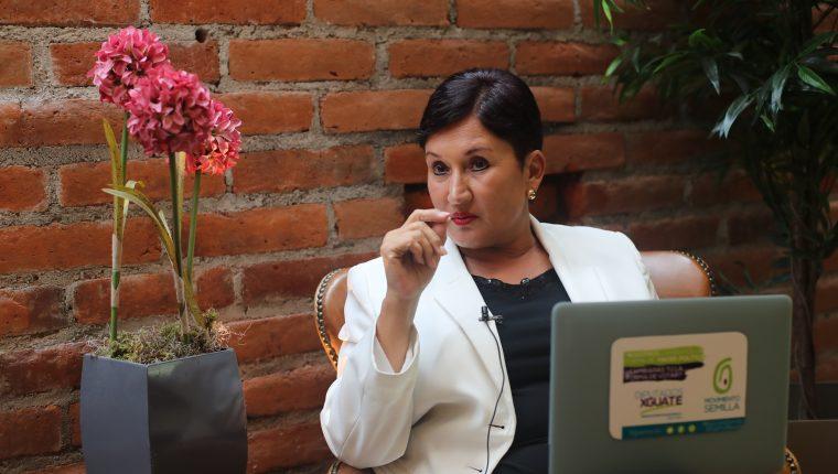 Thelma Aldana, entrevistada en El Salvador por Prensa Libre. (Foto: Érick Ávila)