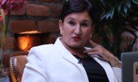 Thelma Aldana, candidata presidencial del Movimiento Semilla, en entrevista de Prensa Libre y Guatevisión desde San Salvador. (Foto Prensa Libre: Érick Ávila)