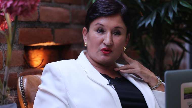 Thelma Aldana, candidata presidencial proclamada por el Movimiento Semilla. (Foto Prensa Libre: Hemeroteca PL)