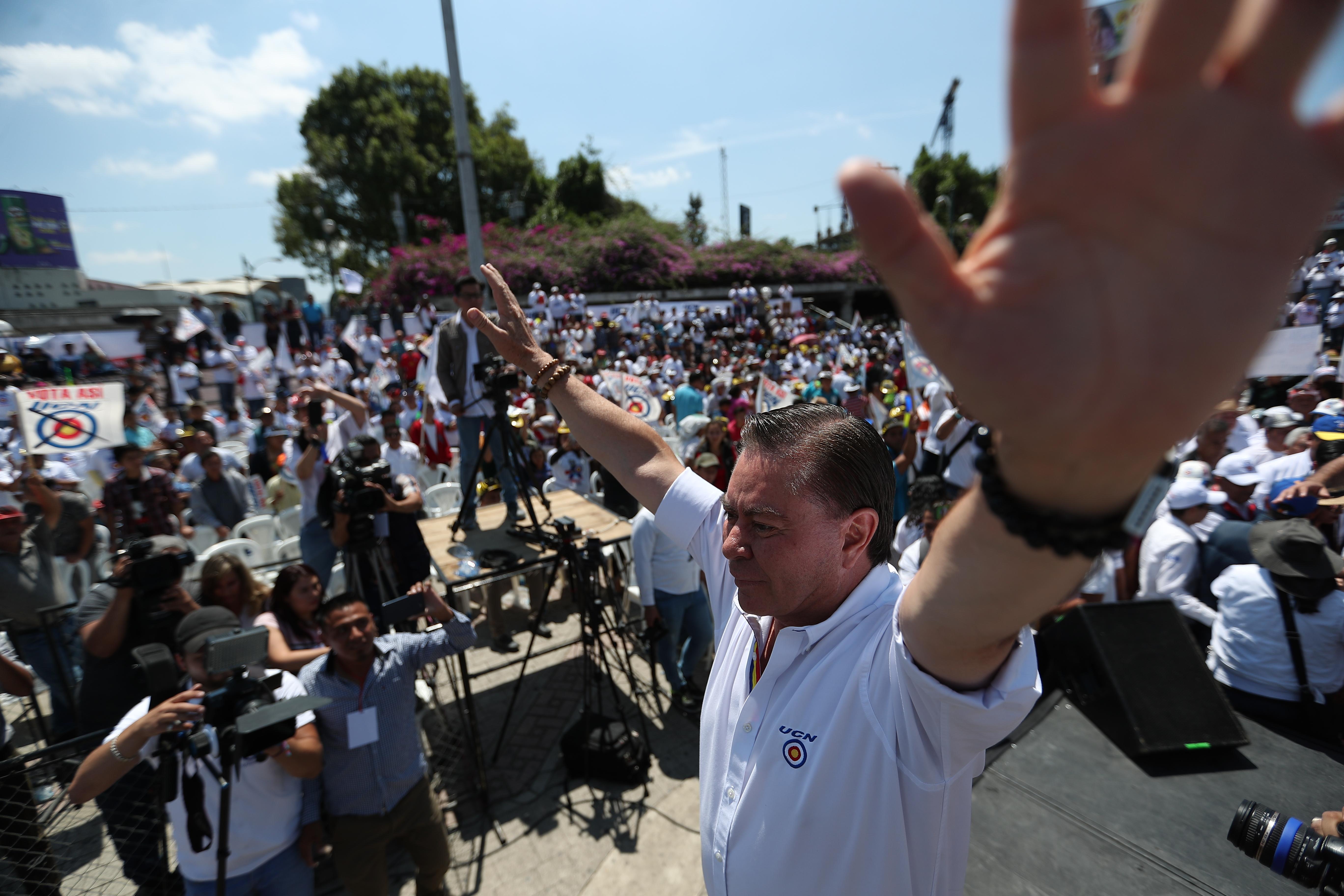 El 23 de marzo del 2019, Mario Estrada lanzó su campaña presidencial en la Plaza Obelisco, en la capital de Guatemala. (Foto Prensa Libre: Hemeroteca PL)