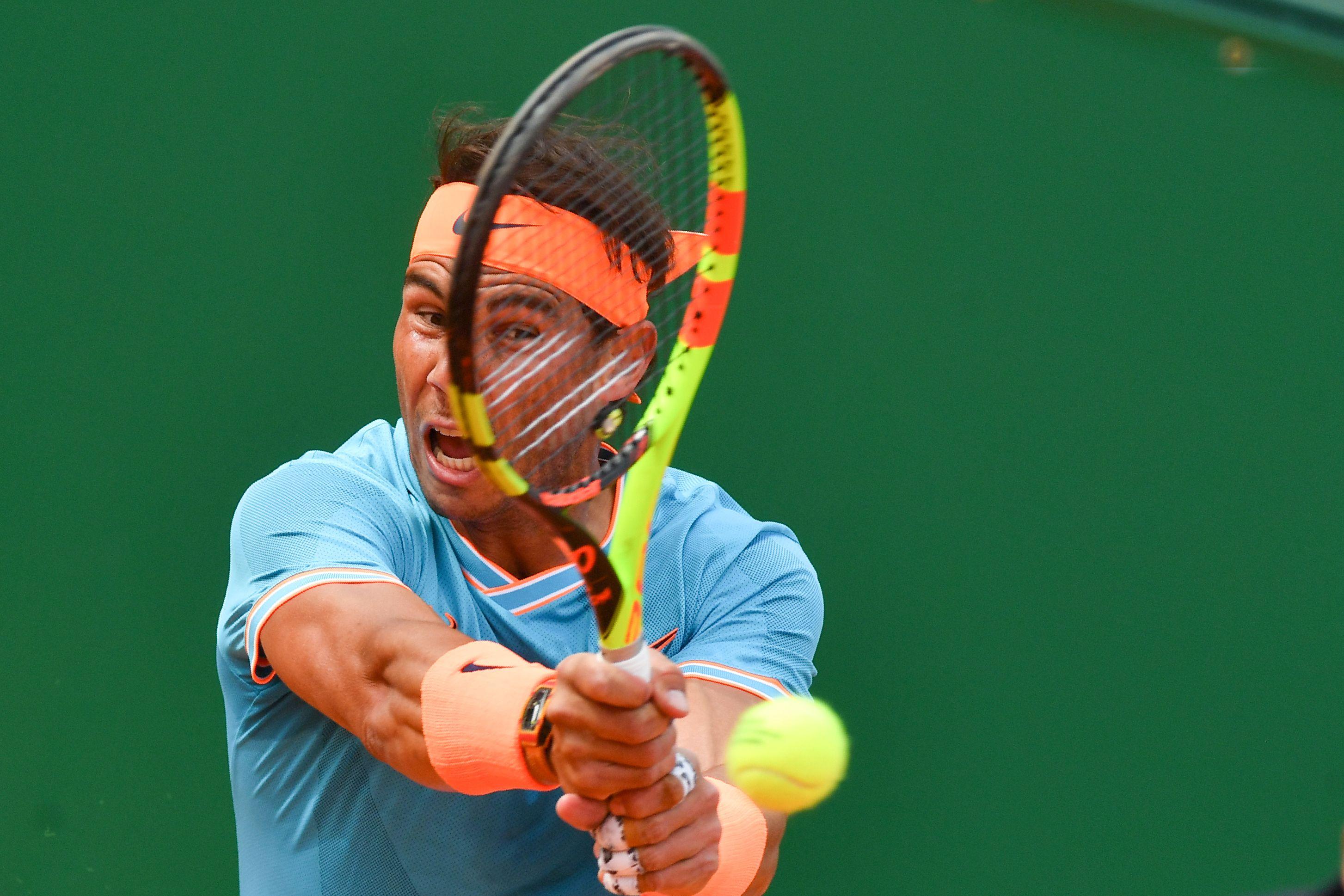 Rafael Nadal quedó fuera del Masters 1000 al caer contra Fognini . (Foto Prensa Libre: AFP)