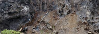 Grandes cantidades de materiales para construcción son extraídas de las montañas de Huehuetenango. (Foto Prensa Libre: Mike Castillo)