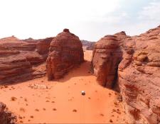 El desierto de Arabia Saudita recibirá el Rally Dakar. (Foto Prensa Libre: Rally Dakar)
