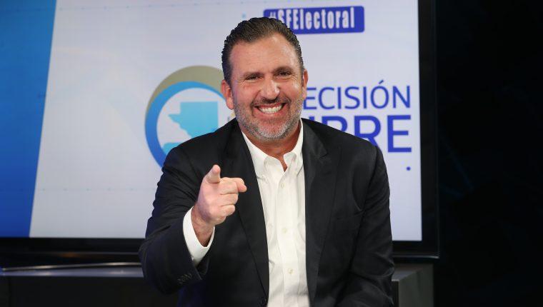 Roberto Arzú, presidenciable de la coalición PAN- Podemos. (Foto Prensa Libre: Érick Ávila)