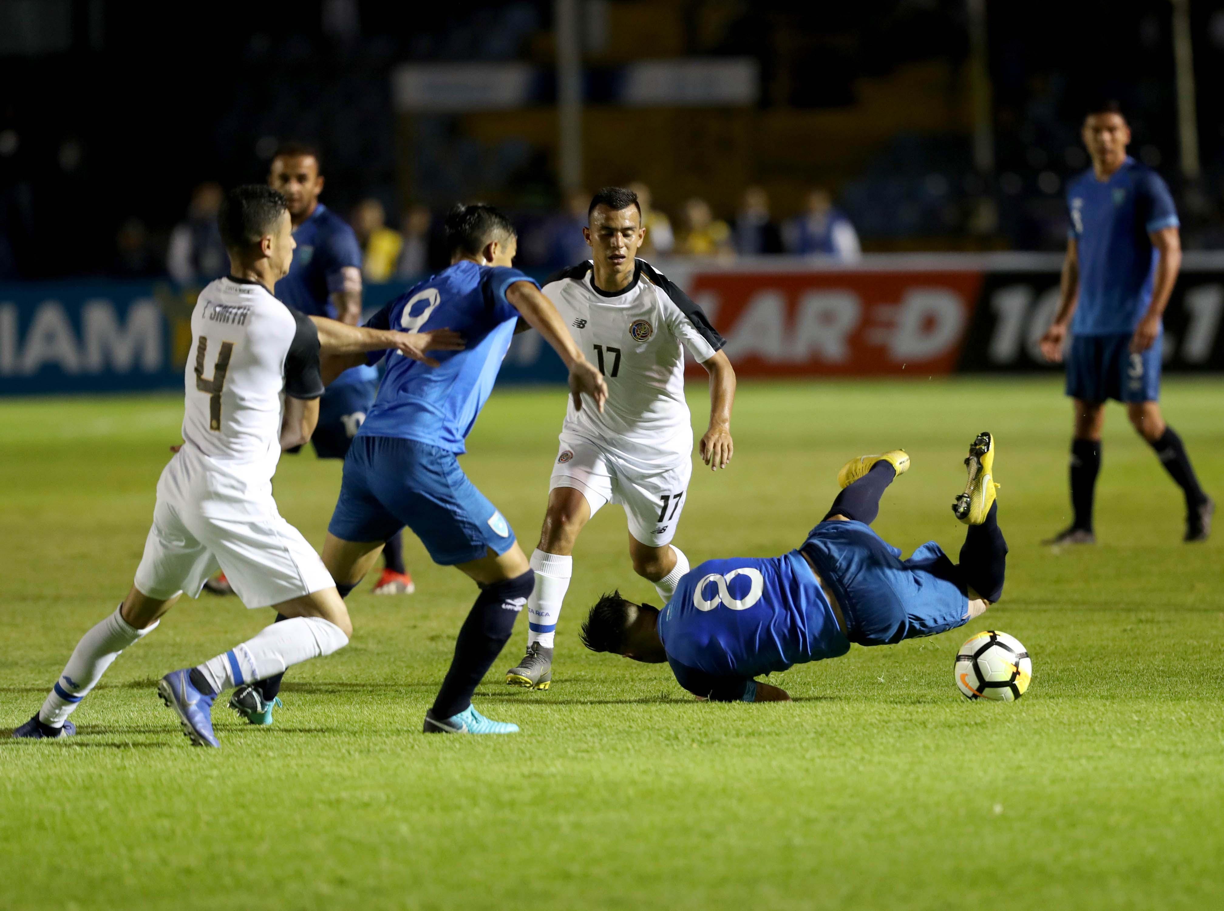 La Bicolor le ganó a Costa Rica 1-0 en amistoso el pasado 22 de marzo. (Foto Prensa Libre: Hemeroteca PL)
