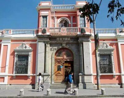 Sede del Tribunal Supremo Electoral en la capital. (Foto Prensa Libre: Hemeroteca PL)
