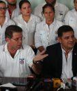 Partido UCN en conferencia de prensa.