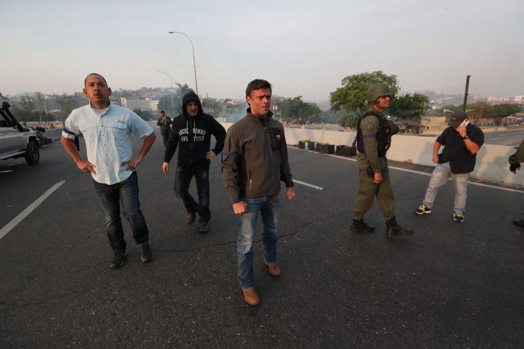 Leopoldo López estuvo en prisión desde 2015. Foto Prensa Libre: EFE
