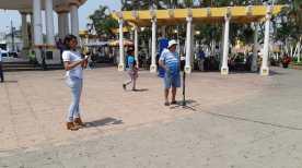 Cabildo Abierto se realizó este lunes en la Plaza Central de Escuintla.(Foto Prensa Libre: Carlos Paredes)