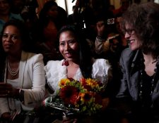 La actriz mexicana Yalitza Aparicio Martínez tras recibir la llave de la ciudad de Panamá, este lunes 8 de abril, en Ciudad de Panamá (Panamá). (Foto Prensa Libre: EFE)