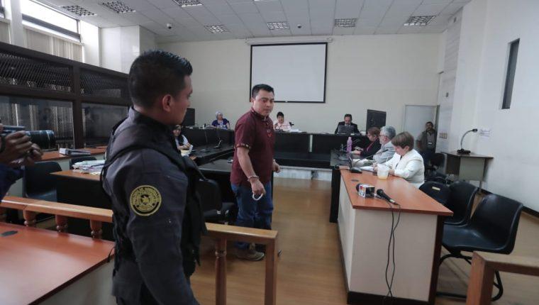 Abelino Chub Caal fue absuelto por el Tribunal de Mayor Riesgo A. (Foto Prensa Libre: Juan Diego González)